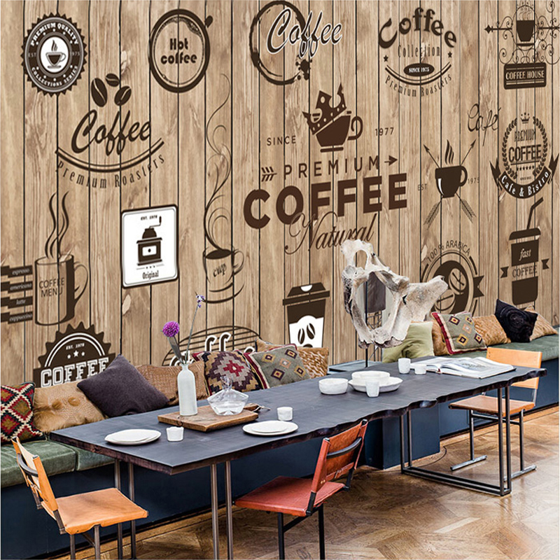 Custom-Any-Size-D-Wall-Mural-Wallpaper-Retro-Nostalgic-Wood-Grain-Cafe-Mural-Paintings-Living-Room-PIC-MCH055150 Cafe Wallpaper Designs 18+