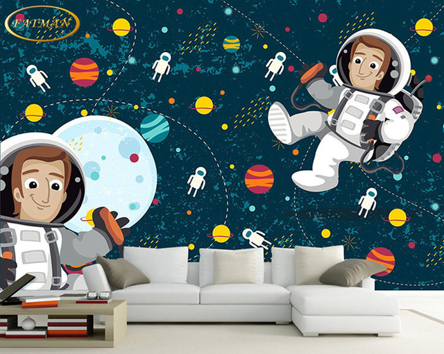 Custom-photo-wallpaper-d-Hand-painted-childlike-space-Walking-backdrop-Kids-Room-Kindergarten-play-PIC-MCH055210 Non Toxic Wallpaper 26+