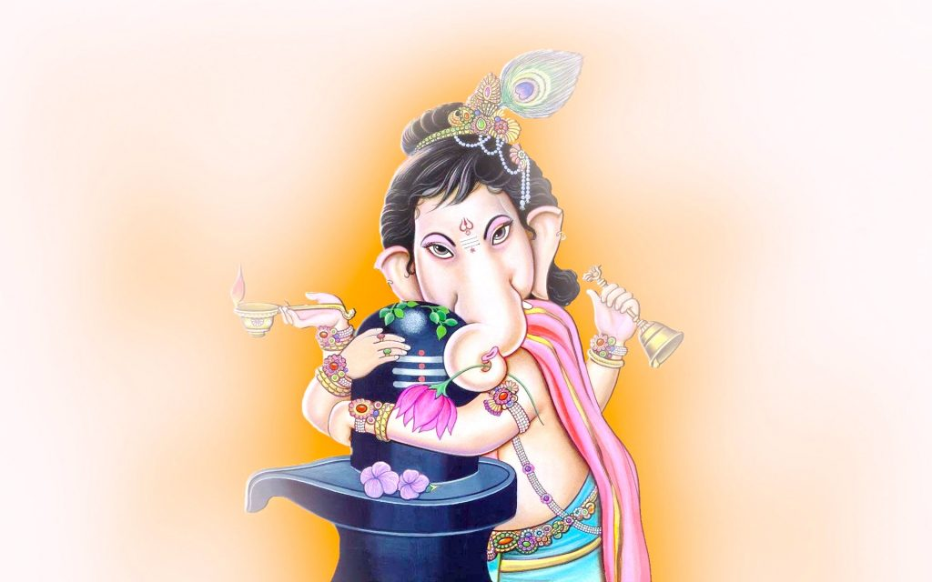 Cute-Lord-Ganesha-with-Shivling-PIC-MCH055499-1024x640 Cute Little Ganesha Wallpaper 12+