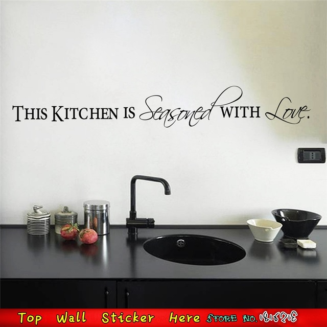 Kitchen-Wall-Quotes-Decortaion-English-Lettering-Wallpaper-Art-Mural-Stickers-Poster-Non-Toxic-VINY-PIC-MCH080187 Non Toxic Wallpaper 26+