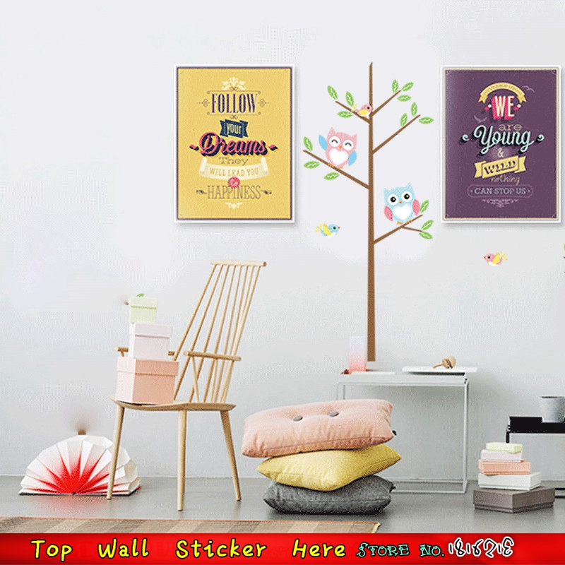 Non-Toxic-DIY-Kids-Room-Baby-Bedroom-Wall-Paper-Paste-Cartoon-Cute-Owl-Tree-Bird-Wall-PIC-MCH091151 Non Toxic Wallpaper Paste 19+