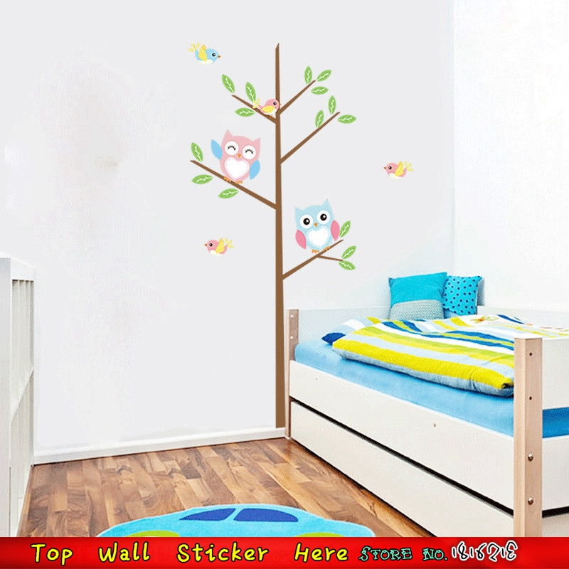 Non-Toxic-DIY-Kids-Room-Baby-Bedroom-Wall-Paper-Paste-Cartoon-Cute-Owl-Tree-Bird-Wall-PIC-MCH091153 Non Toxic Wallpaper Paste 19+