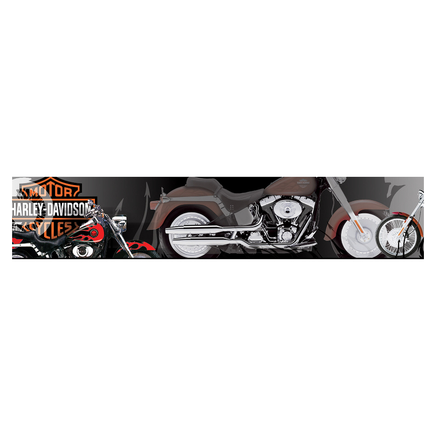 PIC-MCH0602 Harley Wallpaper Border 10+