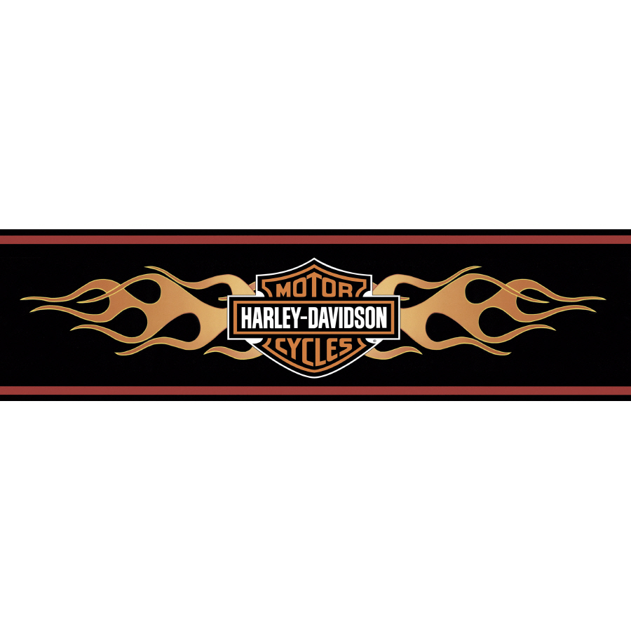 PIC-MCH0624 Harley Wallpaper Border 10+