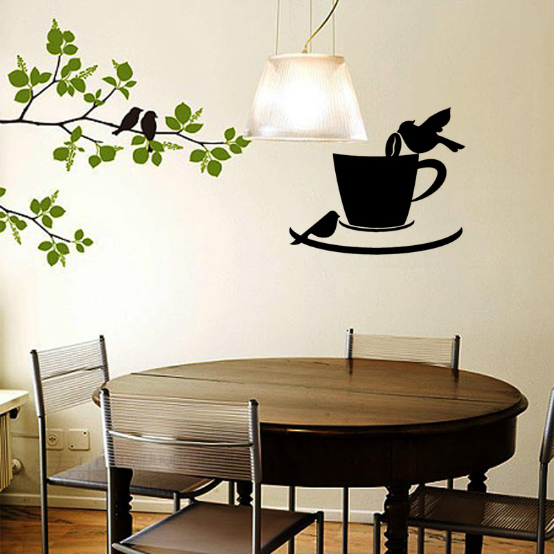 Stickers-Coffee-Cup-Birds-Cafe-Kitchen-Vinyl-Wall-Sticker-Decal-Mural-Wall-Art-Coffee-Shop-Wallpape-PIC-MCH0104265 Cafe Wallpaper For Kitchen 24+