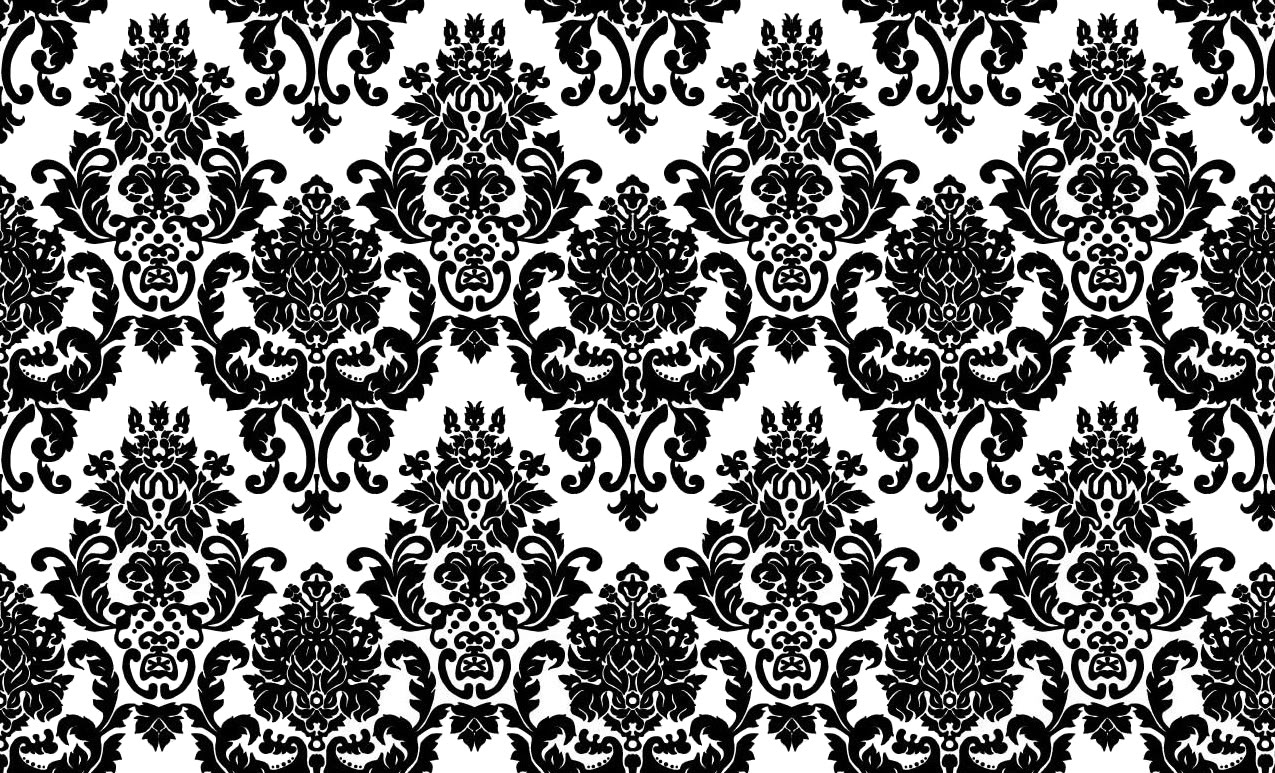 Black And White Damask Wallpaper Background PIC MCH047117
