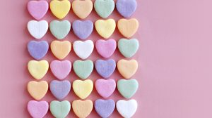 Pink Candy Hearts Wallpaper 26+