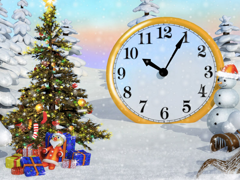 christmas-tree-clock-PIC-MCH052668 Sparkling Wallpapers Screensavers 26+