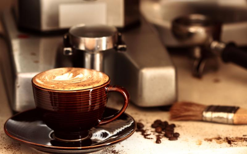 coffee-cup-and-the-machine-PIC-MCH05575 Cafe Wallpaper Hd 30+