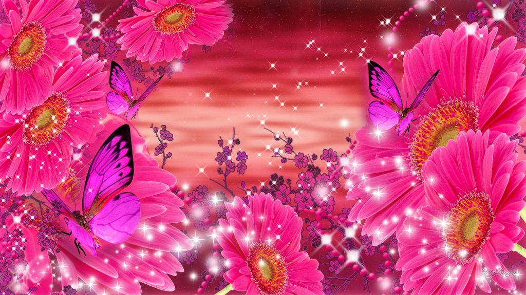 flowers-bright-gerbera-sakura-sunrise-shine-neon-pink-gerberas-glow-stars-daisies-butterflies-spark-PIC-MCH064436-1024x576 Sparkling Wallpapers For Mobile 21+