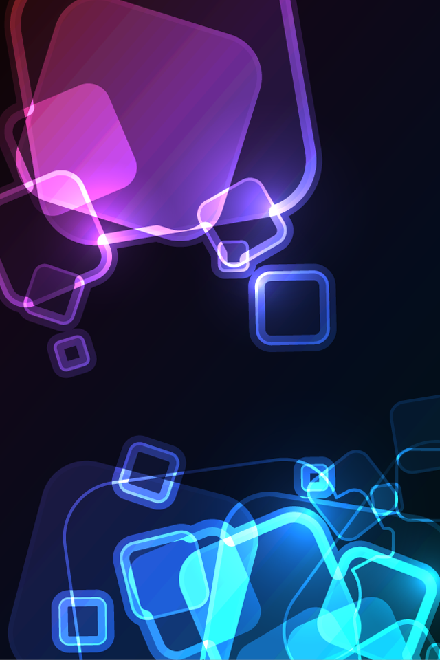 ipod-touch-iphone-s-x-mobile-wallpaper-neon-glow-abstract-squares-PIC-MCH077409 Neon Wallpapers For Mobile 32+