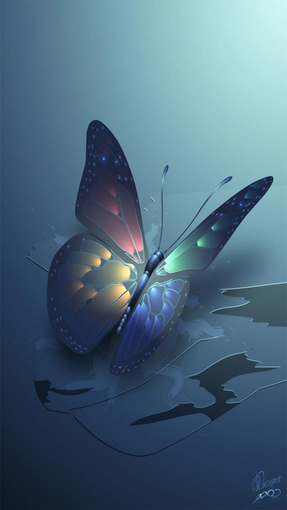 Blue-Glowing-Butterfly-iPhone-wallpaper-wp-PIC-MCH048218-577x1024 Lucina Wallpaper Iphone 15+