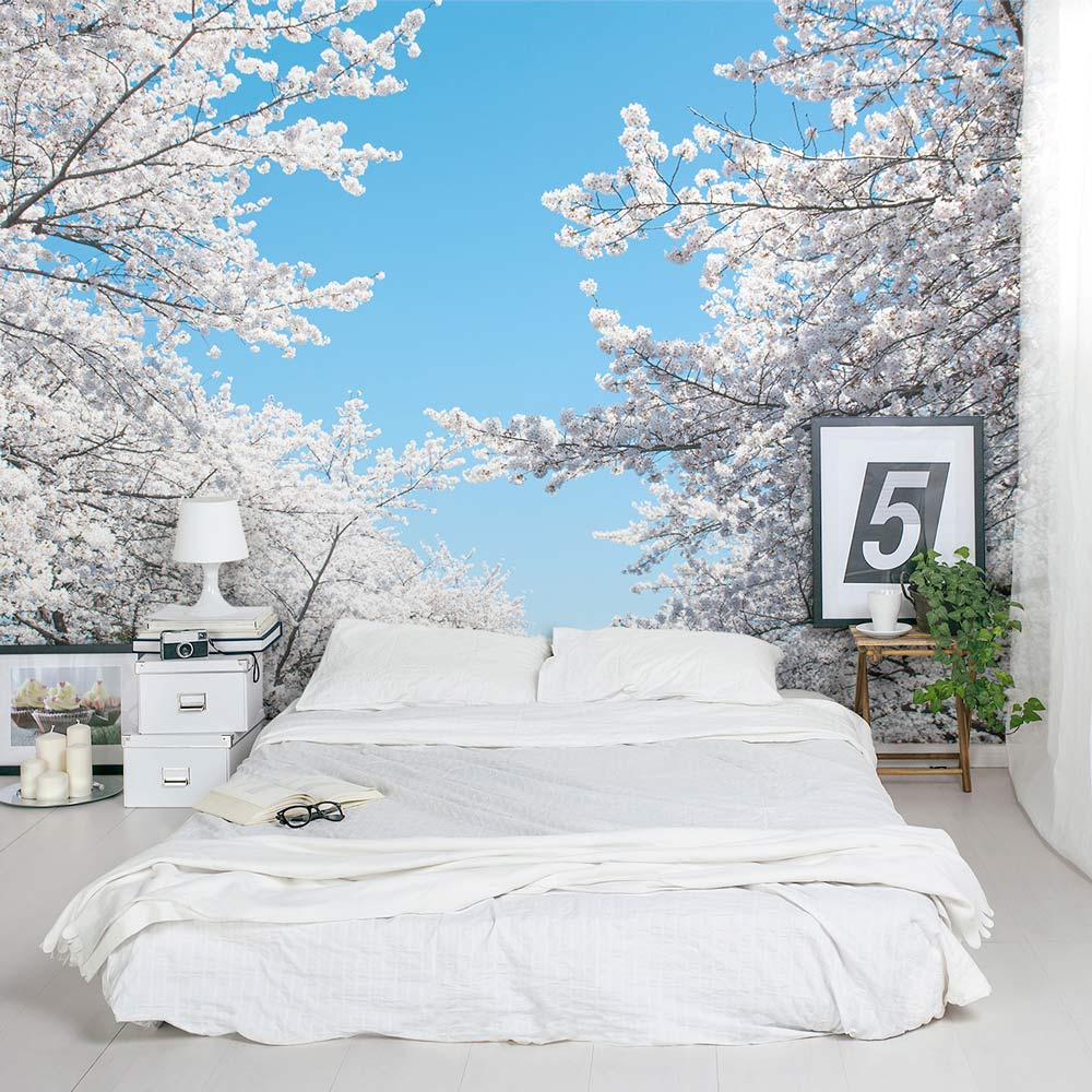 Cherry-Blossom-Foliage-Mural-Bedroom-PIC-MCH052045 Blossom Wallpaper Mural 14+