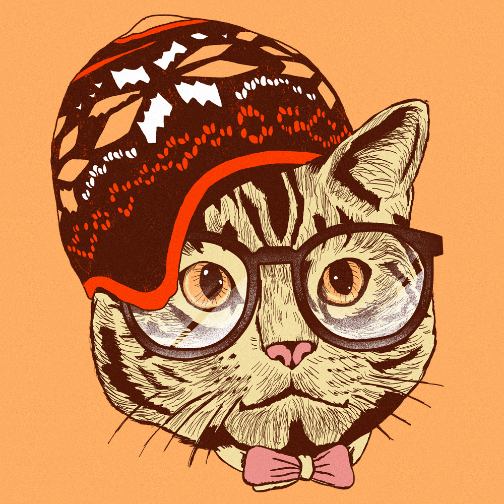 Hipster Cat PIC MCH073231