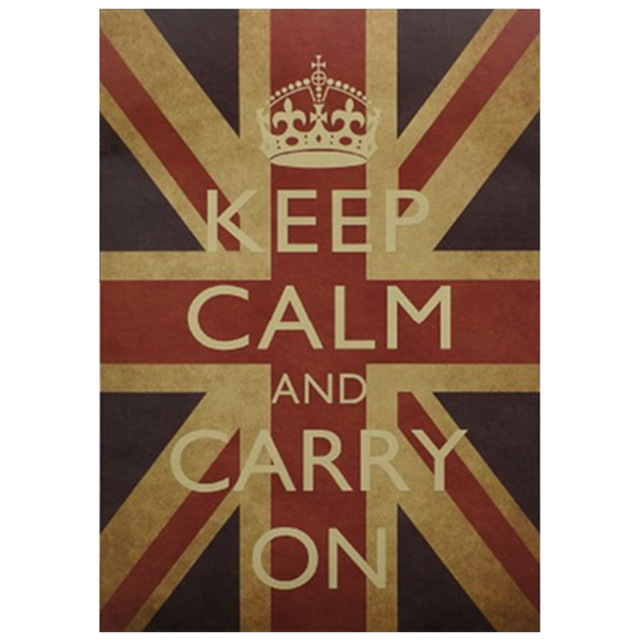 National-Flag-kraft-poster-Keep-Calm-Carry-On-English-wall-sticker-home-decoration-office-room-vint-PIC-MCH088868 Wallpaper Keep Calm And Carry On 22+