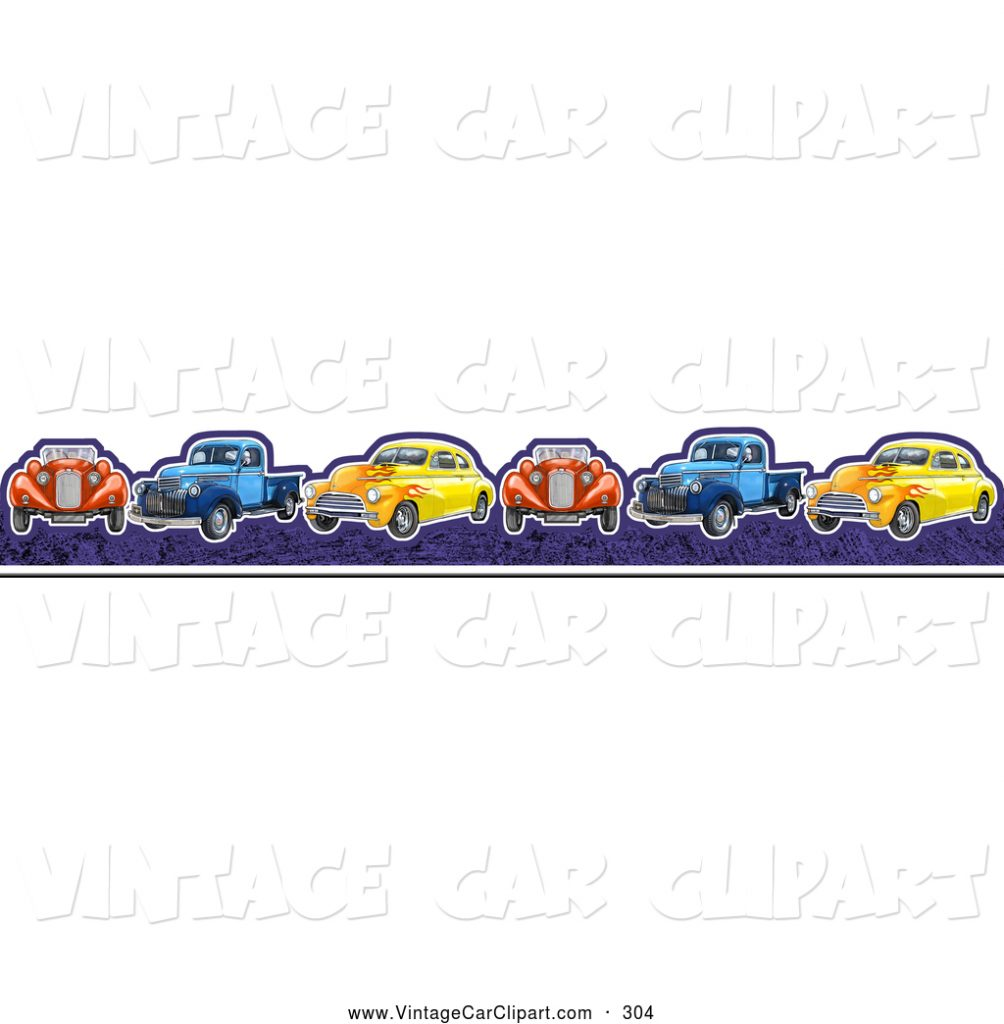 clipart-of-a-border-of-vintage-cars-and-trucks-in-a-line-by-gina-jane-PIC-MCH053195-1004x1024 Old Truck Wallpaper Border 21+