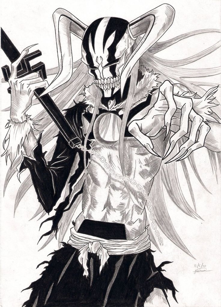 drawn-masks-hollow-PIC-MCH060909 Anime Wallpapers Bleach Ichigo Hollow Forms 23+