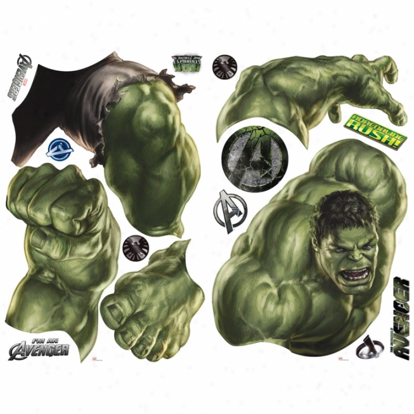 the-avengers-hulk-giant-wall-decal-PIC-MCH0106457 Incredible Hulk Wallpaper Border 21+