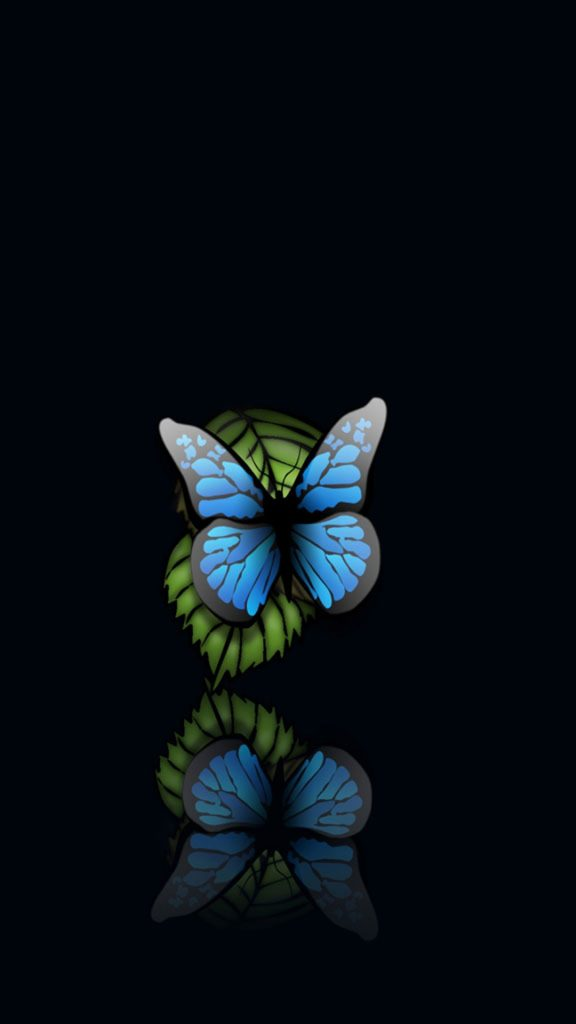Blue-Butterfly-Black-Background-Android-Wallpaper-PIC-MCH047997-576x1024 Black Background Wallpaper For Android 29+
