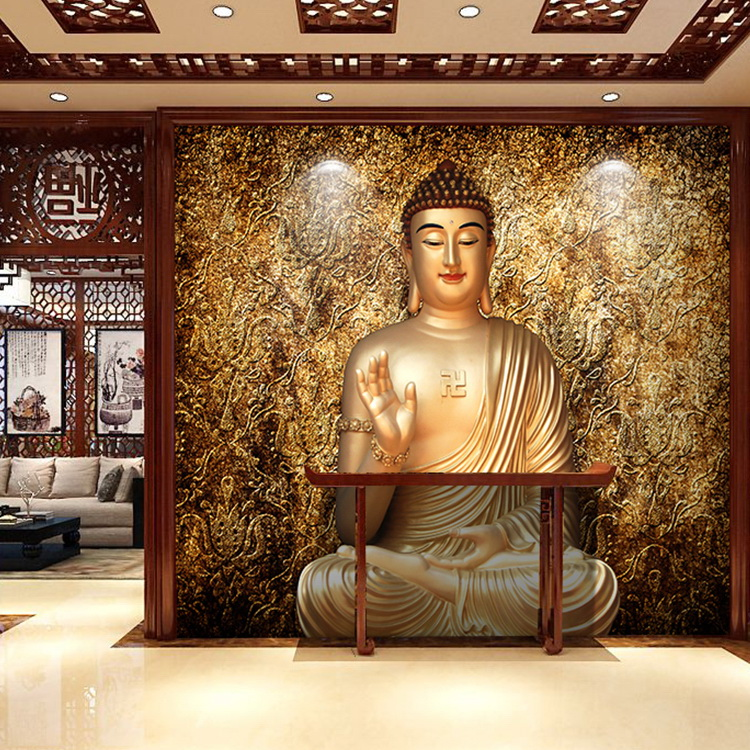 Custom-d-mural-retro-Buddha-temple-mural-living-room-entrance-wallpaper-D-stereo-Buddha-wallpaper-PIC-MCH055125 3d Gautam Buddha Wallpaper 31+