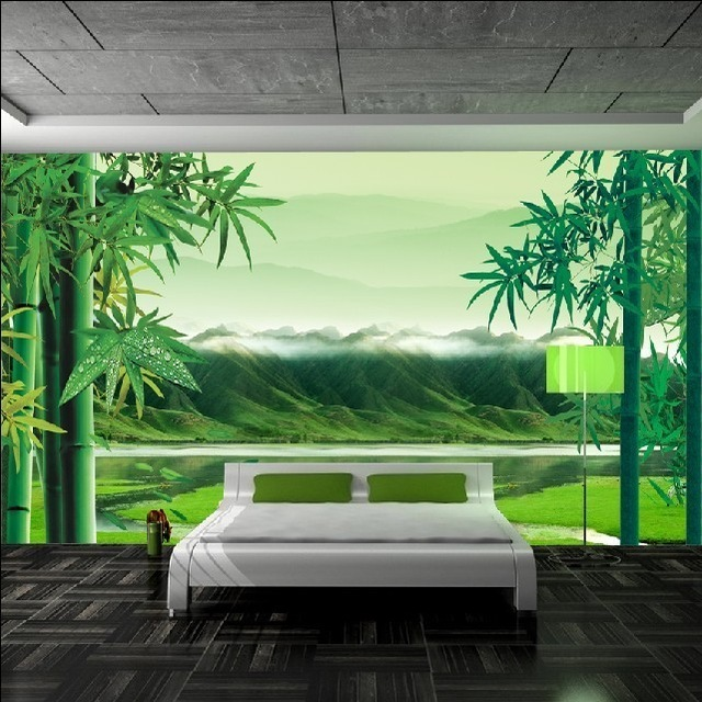 D-Wallpaper-Background-TV-Chinese-green-bamboo-in-non-woven-wallpaper-adhesive-film-garden-wall-mu-PIC-MCH019927 Non Woven Wallpaper Glue 33+