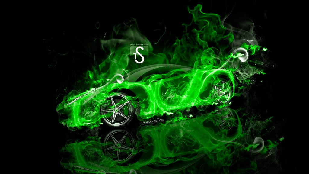 Ferrari-Italia-Green-Fire-Abstract-Car-HD-Wallpapers-design-by-Tony-Kokhan-www.el-tony.com-PIC-MCH063632-1024x576 Cool Green Car Wallpapers 29+