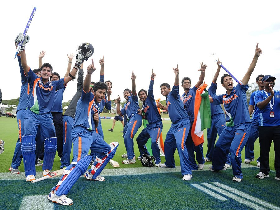 India-Under-s-Cricket-Team-celebrate-their-World-Cup-triumph-over-Australia-in-Townsville.-PIC-MCH075474 Beautiful Wallpapers Indian Cricketers 37+