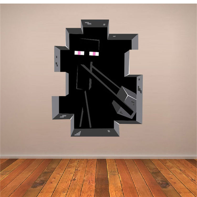 Latest-XXL-Vinly-Game-Minecraft-Enderman-Wall-Stickers-Home-Decor-Minecraft-Wallpaper-Party-Decorat-PIC-MCH081390 Minecraft Brick Bedroom Wallpaper 11+