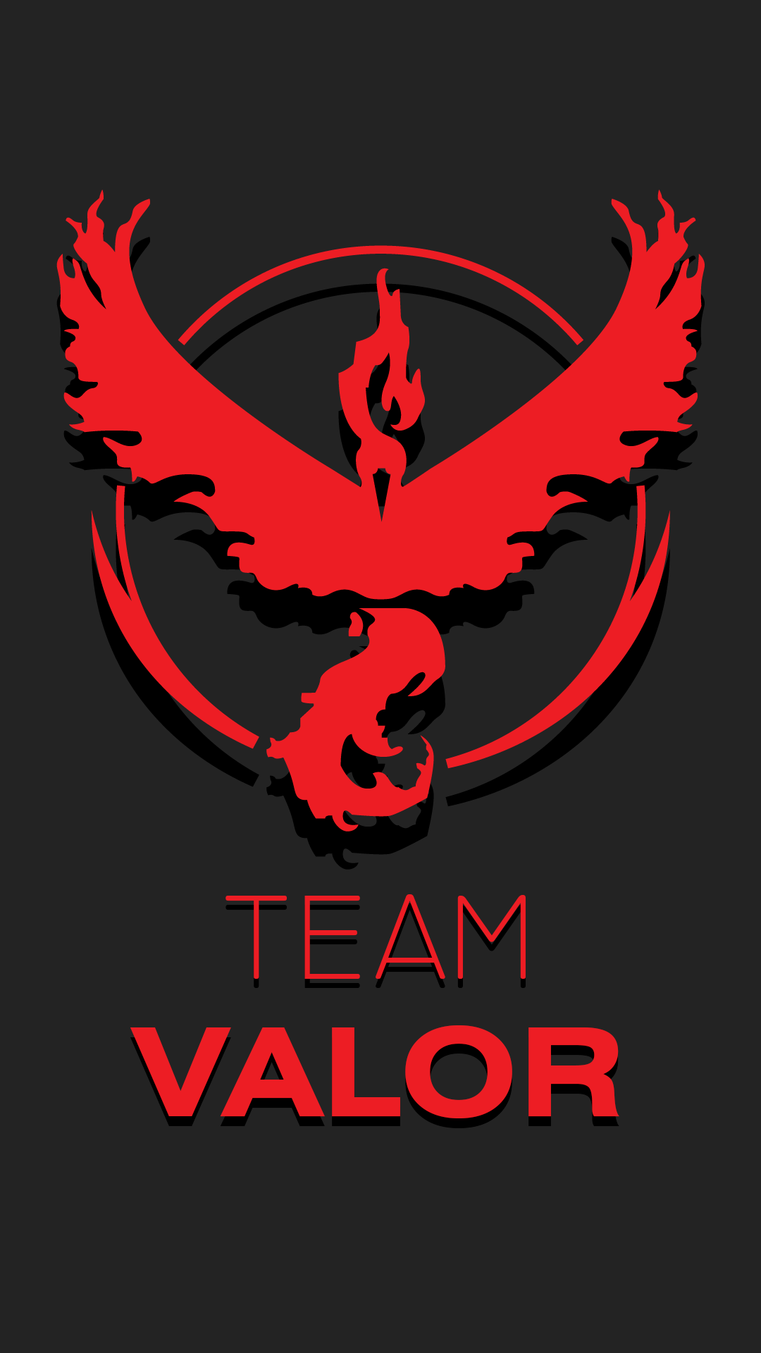 Made This Walpaper For Team Valor Pokemongo Wallpaper Wp PIC