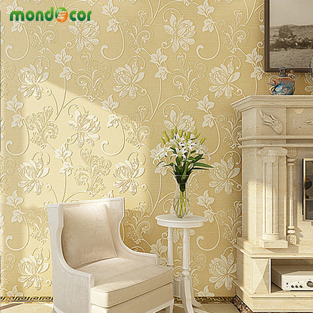 Mondecor-D-Non-Woven-Wallpaper-Living-room-Bedroom-TV-Wall-Paper-Lotus-Flower-Embossed-High-Qualit-PIC-MCH087121 Non Woven Wallpaper Price 32+