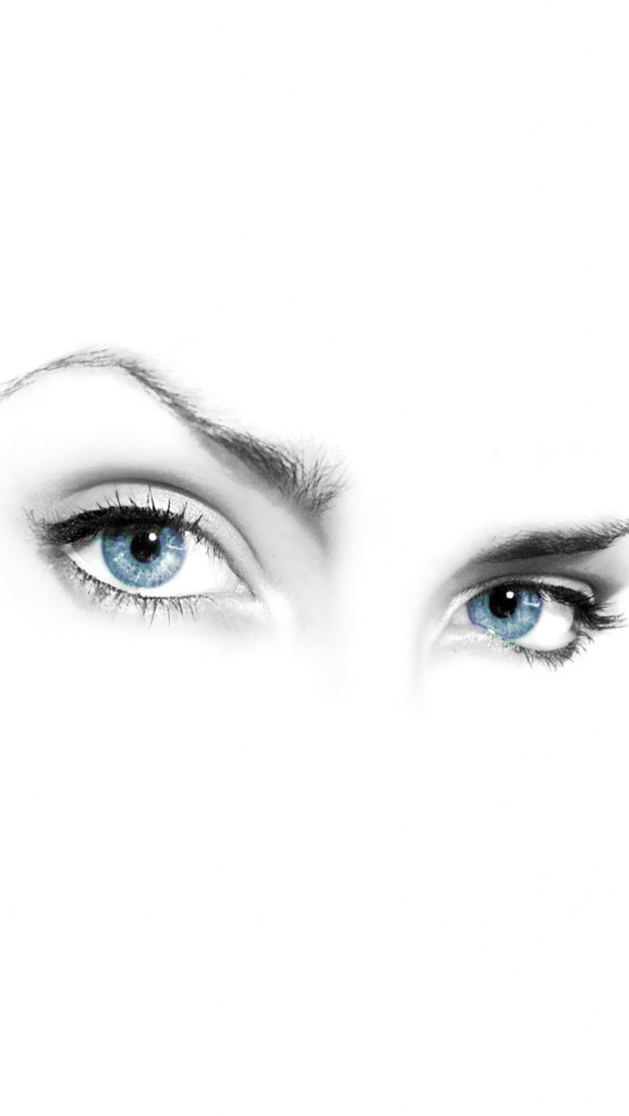 Mystery-Woman-Eyes-on-White-Background-iPhone-Wallpaper-PIC-MCH088292-577x1024 White Hd Iphone Wallpaper 37+