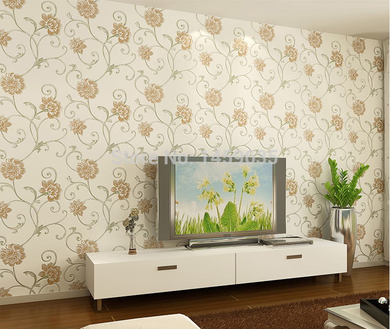 Purple-Stereoscopic-D-Flower-Wallpaper-Rural-Sweet-Romance-Non-woven-Wallpaper-The-Bedroom-Living-PIC-MCH096590 Non Woven Wallpaper Meaning 18+