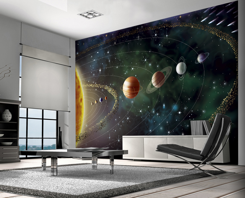 Space-mural-for-a-boys-room-PIC-MCH0103195 Minecraft Bedroom Wallpaper Ireland 12+