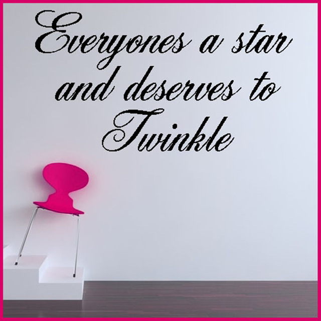 Top-Fashion-Everyone-Is-A-Star-Inspiration-English-Proverbs-Stickers-Personalized-Decorative-W-PIC-MCH010204 Inspiration Wallpaper In English 10+