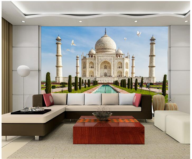 d-room-font-b-wallpaper-b-font-custom-photo-non-woven-mural-home-decoration-The-taj-PIC-MCH019883 Non Woven Wallpaper India 15+