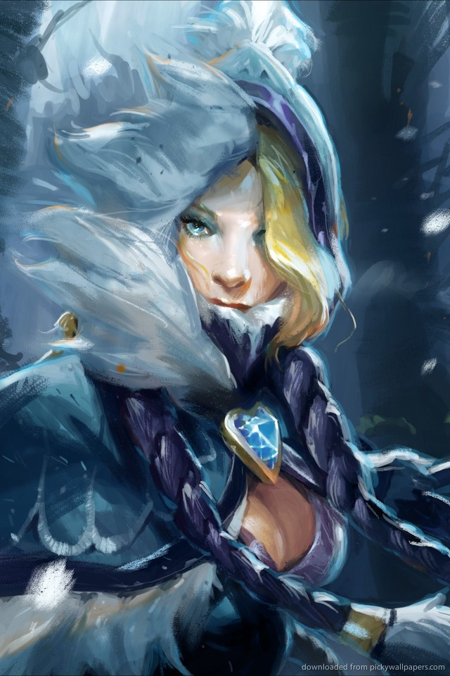 dota-rylai-the-crystal-maiden-PIC-MCH059765 Dota 2 Hd Wallpaper For Iphone 37+