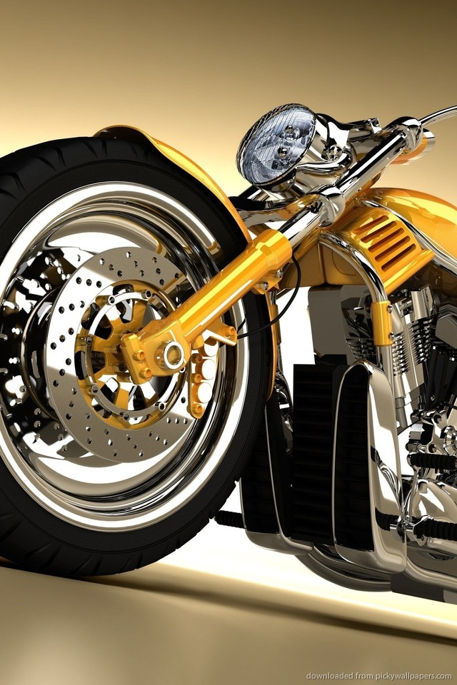 harley-davidson-yellow-chopper-PIC-MCH071276 Harley Davidson Wallpapers For Iphone 33+