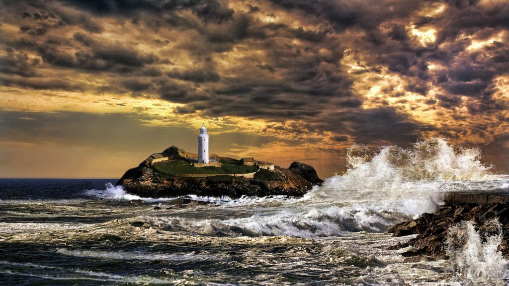 lighthouse-in-an-angry-sea-PIC-MCH082294-1024x576 Lighthouse Seascape Wallpapers 15+