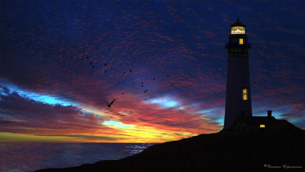 lighthouse-paintings-at-night-wallpaper-PIC-MCH082297-1024x576 Free Lighthouse Wallpapers Screensavers 37+