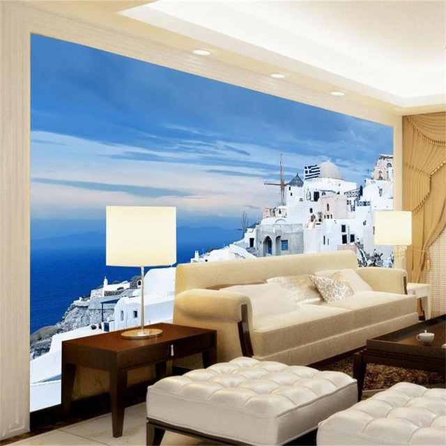photo-wallpaper-custom-d-mural-living-room-India-seaside-landscape-painting-sofa-TV-background-non-PIC-MCH094600 Non Woven Wallpaper India 15+