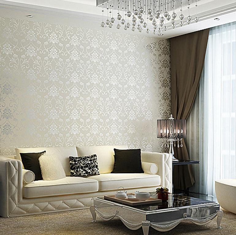 splendid-living-room-with-damask-wallpaper-PIC-MCH0103424 Living Room Interior Wallpaper 25+