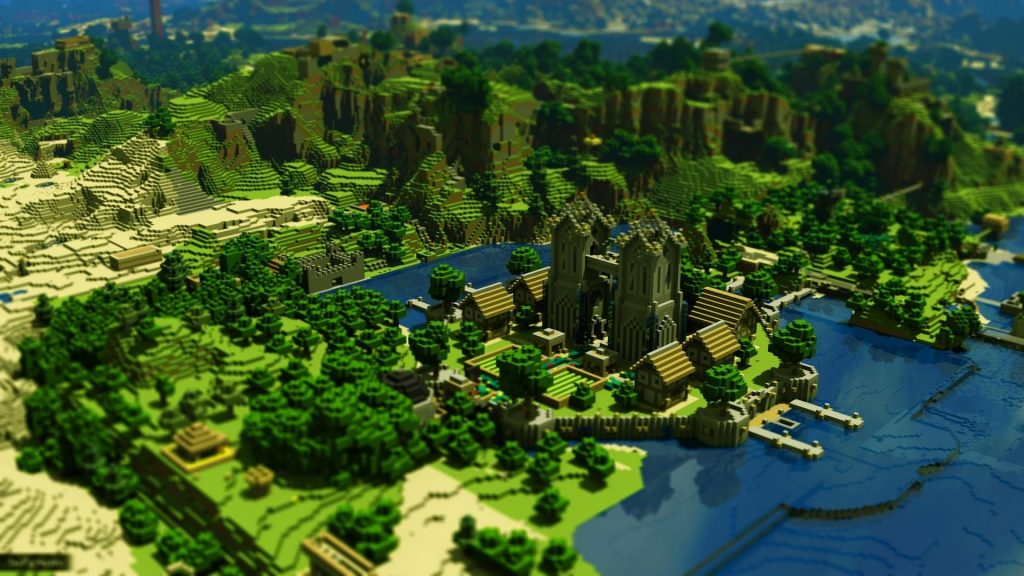wallpaper-minecraft-trees-houses-mountains-water-windows-k-pc-x-PIC-MCH0112236-1024x576 Minecraft Hd Wallpapers 1080p 34+