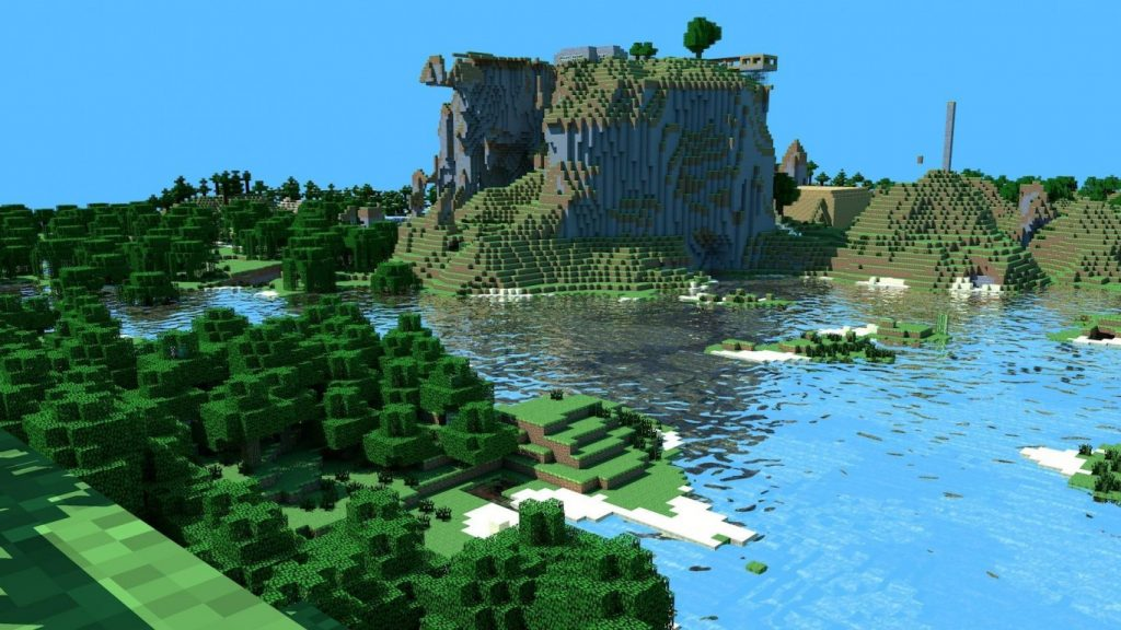 x-minecraft-mountains-PIC-MCH05203-1024x576 Minecraft Hd Wallpapers 1366x768 29+
